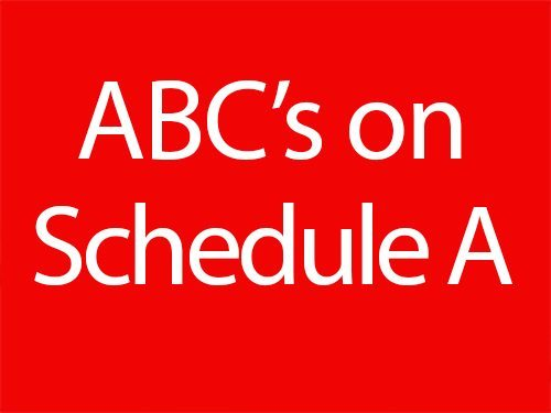 ABC's on Schedule A