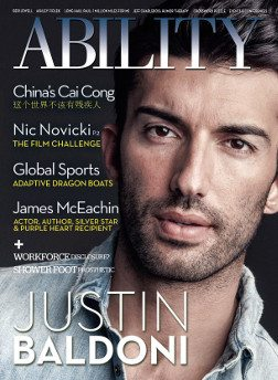Cover of Justin Baldoni Issue of ABILITY Magazine