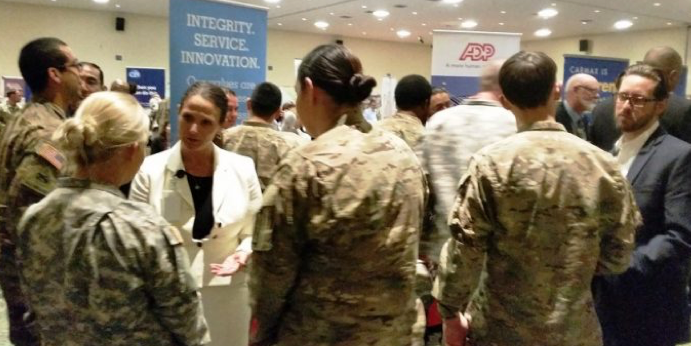 ADP military recruiting event