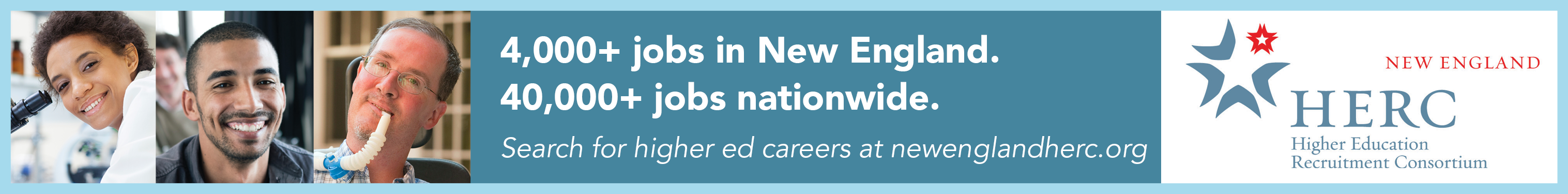 Search for higher ed careers at New England Herc
