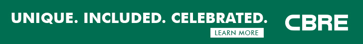 Unique. Included. Celebrated. CBRE Click to learn more